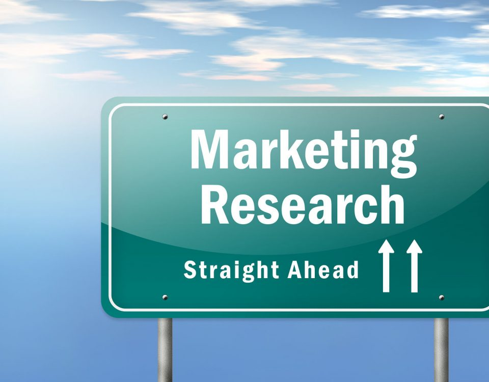 Highway Signpost Image Graphic with Marketing Research wording